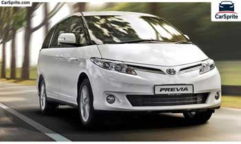 Toyota Previa 2019 prices and specifications in UAE | Car Sprite